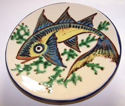 Puigdemont Hand Thrown / Painted Majolica Tropical Fish Charger