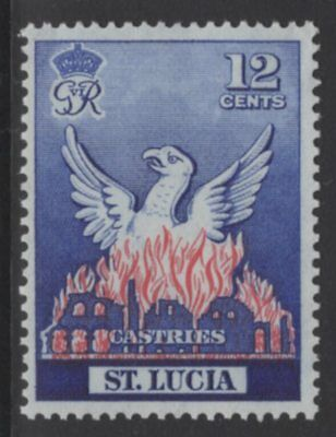 St.lucia Sg166 1951 Reconstruction Of Castries Mtd Mint