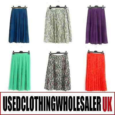 25 WOMEN'S VINTAGE PLEATED SKIRTS WHOLESALE CLOTHING 80's FASHION JOBLOT