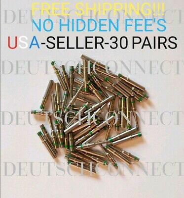 15 pairs Deutsch DT Series  solid pin Connector Male & Female 30 pcs