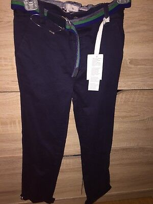 Boys Jasper Conran Navy Chino Jeans Trousers Age 5-6 New With Tags