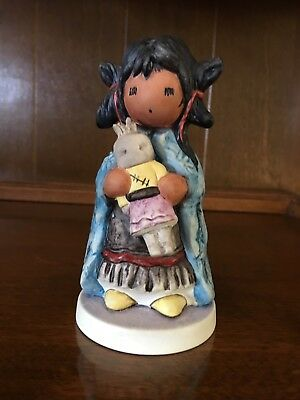 "DeGrazia Porcelain Figurine ""My First Kachina"" made by Goebel - Limited Edition"