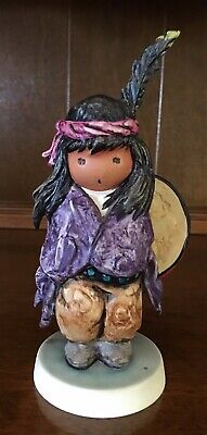 "DeGrazia Figurine ""The Biggest Drum"" made by Goebel 1989"
