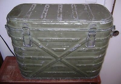 Old Vintage Antique Army Cooler Ice Chest Swartzbaugh 1948 Military Metal Green
