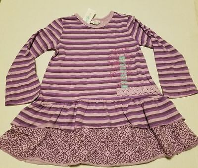 Naartjie sz 2T Tapestry Floral long sleeve top Purple stripes