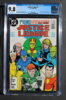 JUSTICE LEAGUE V2 #1 1st MAXWELL LORD Black King TV Villain 1987 NewTeam CGC 9.8