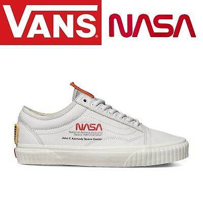 New VANS X NASA Old Skool True White Space Voyager Collection VN0A38G1UP9 7~10