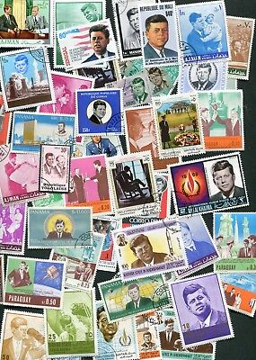 John F Kennedy Stamp Collection - 50 Different!