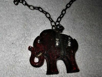 Vintage Stunning Beautiful ELEPHANT Necklace 27 Inches Very UNIQUE Chine Asian