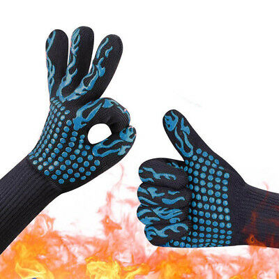 Hot BBQ Grilling Cooking Gloves 932℉ Extreme Heat Resistant Oven Gloves 1piece