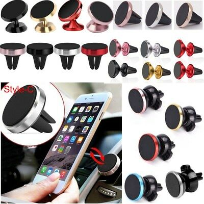 Universal 360 Magnetic Car Air Vent Holder Stand Dash Mount For Mobile Phone GPS