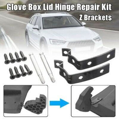 For AUDI A3 A4 S4 B6 B7 Glove Box Lid Hinge Snapped Repair Fix Kit Brackets