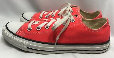 508ba05a7aeb CONVERSE Chuck Taylor All Star Low Top Tennis Shoes BRIGHT ORANGE M 7.5   W  9.5