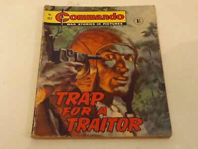 Commando War Comic Number 461 !,1970 Issue,good For Age,48 Years Old,v Rare.