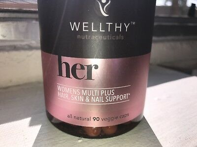 Veggie🌱Wellthy Her WOMENS Multi Plus Hair, Skin & Nail Support 90 Capsules