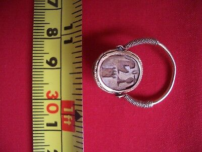 RARE Ancient Egypt Egyptian Antique RING Scarab New Kingdom EXCELLENT Vintage