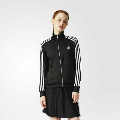 adidas Originals Women's Europa Track Jacket Retro Black Sporty Leisure Comfort