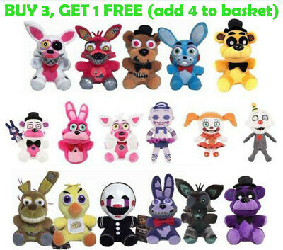 """Five Nights at Freddy's FNAF Horror Game Plush Doll Kid Plushie Toy Gift 7""""-10""""*"""