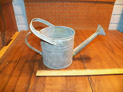 Vintage Small Galvanized Metal Watering Can