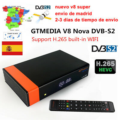 Buit-in Wifi Gtmedia V8 Nova (New V8 Super) DVB-S2 Satellite Receiver Decoder