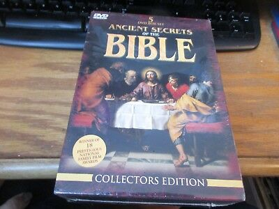 Ancient Secrets of the Bible - Collection Set (DVD, 2000, 5-Disc Set) NEW SEALED