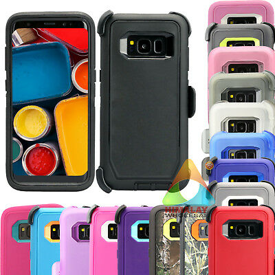 For Samsung Galaxy S8 S8+ Case (Clip fits Otterbox Defender) P06 Heavy Duty