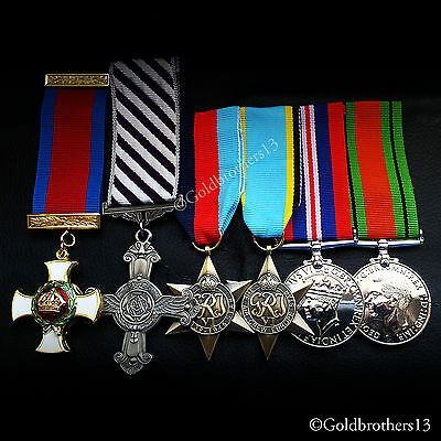 6x Set of DSO , DFC , 1945 star Air Crew Star , War Medal & Defence Medal Repro