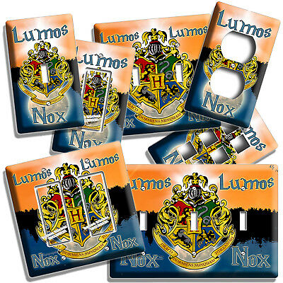 Harry Potter Lumos Nox Hogwarts Coat Of Arms Lightswitch Outlet Wall Plate Decor