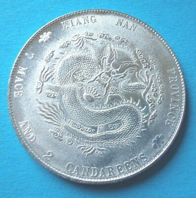 China Dollar Kiang Nan Province Mace and Cand. Medaille 39 mm