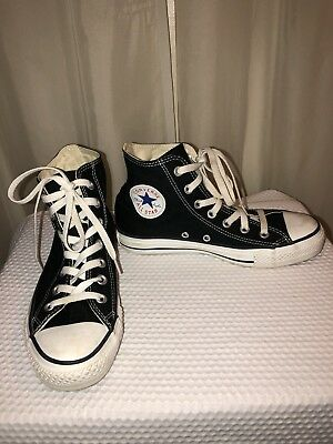 Converse Chuck Taylor All Star Black Canvas High Top Shoes Size Mens 5 Womens 7
