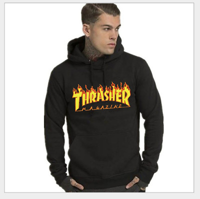 9083bbc1894f2 Camouflage Mens Hoodie Unisex Thrasher Magazine Flame Camouflage Pullover