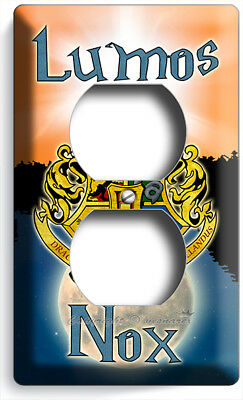 Harry Potter Lumos Nox Hogwarts Coat Of Arms Outlet Wall Plates Nerd Room Decor