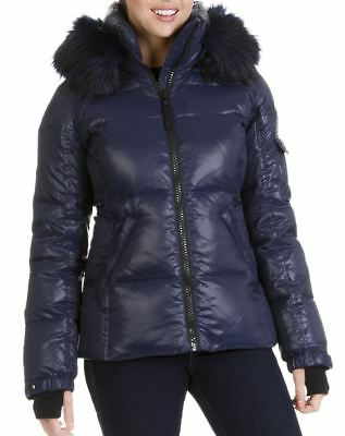 a4f128004d6 *NWOT* S13 Women's Down Puffer Jacket Removable Hoodie with Faux Fur Trim