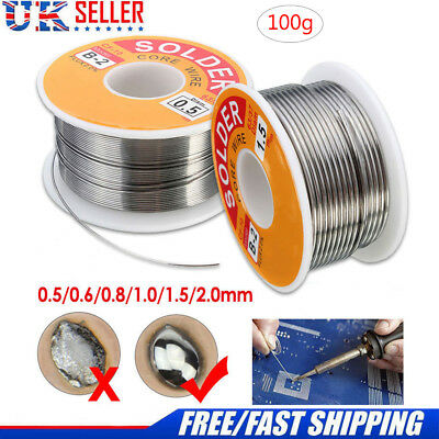 100g/63-37 Tin Lead Rosin Core Solder Wire for Electrical Solderding 0.5-2mm UK