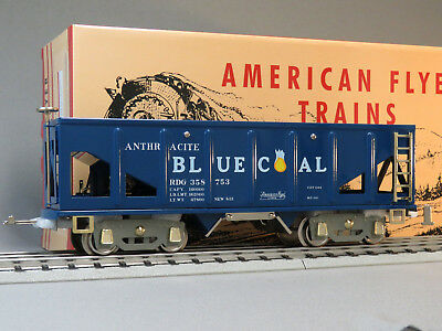 Mth Lionel Corp Tinplate Standard Gauge Blue Coal Hopper Car #4006 11-30229 New