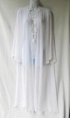 Robe Lace White Honeymoon Sheer Peignoir STUNNING Flora Nikrooz  Bridal Lingerie
