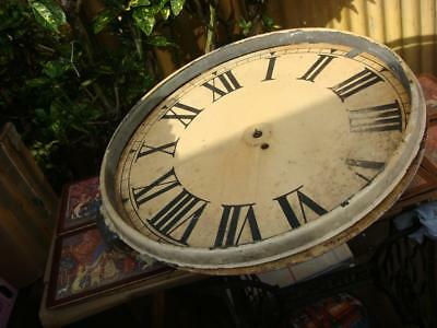 Vintage Fusee Clock movement With Large Dial   For Restoration , Spare Or repair