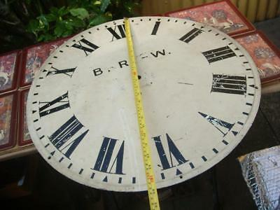 Vintage Clock Dial Just Large  Dial no Movement For Restoration Spare Or repair