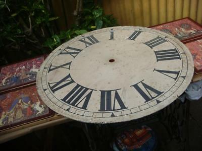 Vintage Clock Dial Just Large Dial no Movement For Restoration , Spare Or repair