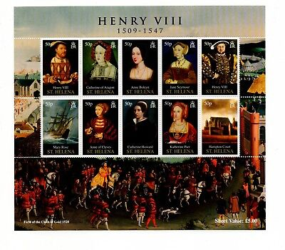 St Helena Henry VIII  Sheetlet And Westminster Wallet 2009 500th Birthday