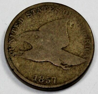 1857 United States Flying Eagle Cent / Penny - G Good Condition