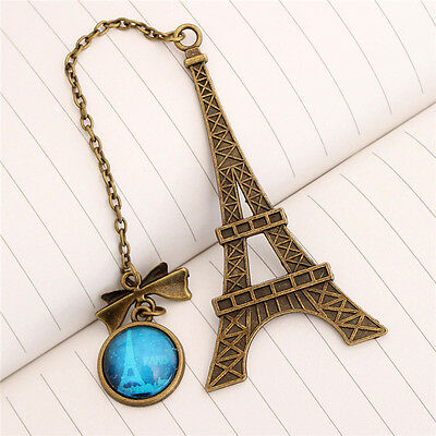 Xmas Eiffel Tower Metal Bookmarks For Book Creative  Item Kids Gift Stationery