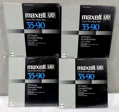 4 Vintage MINT IN BOX FACTORY SEALED MAXELL 35-90 UD Reel to Reel Tapes