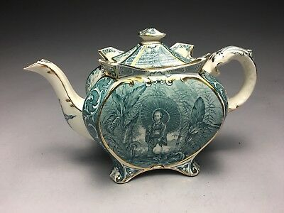 Fine Burleigh Ware Chinoiserie Stafforshire English Pottery Teapot Mint!