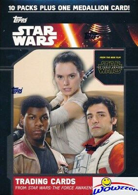 2015 Topps Star Wars the Force Awakens EXCLUSIVE Blaster Box-BRONZE MEDALLION !