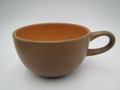 Vintage Mid-Century Edith Heath Pumpkin Speckled Coupe Flat Cup Only