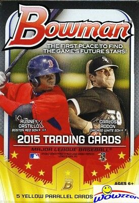 2015 Bowman Baseball EXCLUSIVE Factory Sealed Hanger Box-5 YELLOW PARALLELS !!