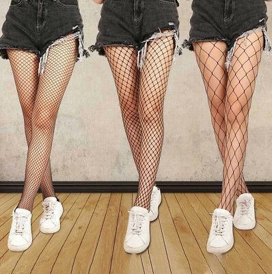 Women Ladies Black Mesh Fishnet Net Pattern Pantyhose Tights Stockings Sock Long