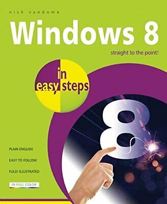 Windows 8 in Easy Steps by Vandome, Nick Book The Cheap Fast Free Post