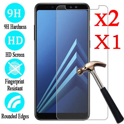 2X Tempered Glass Screen Protector For Samsung Galaxy A3 A5 2017 A6 A8 Plus 2018